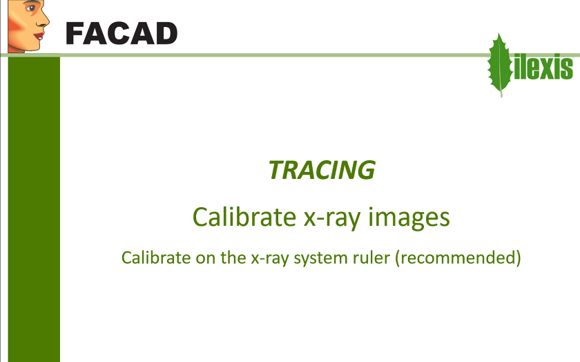 Calibrate x-ray images