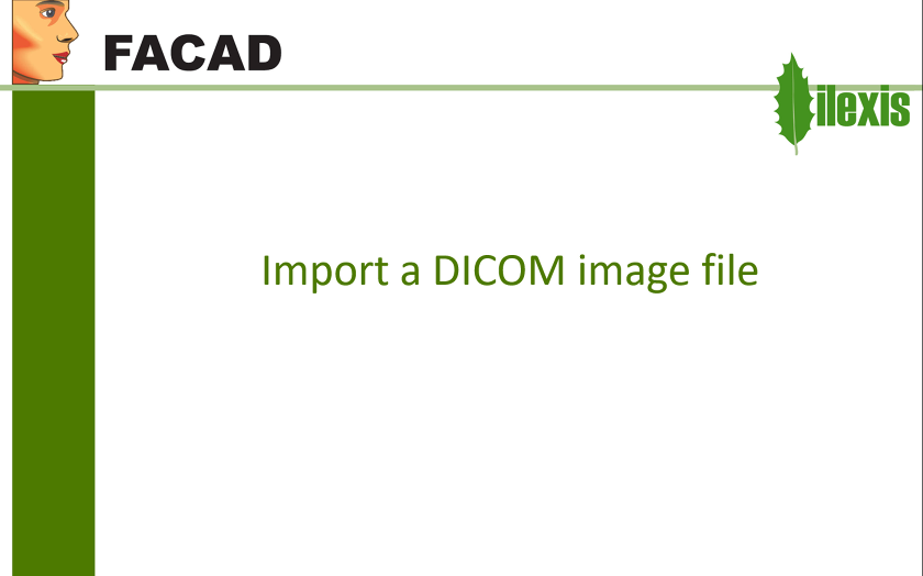 Create a new patient and import a DICOM image file