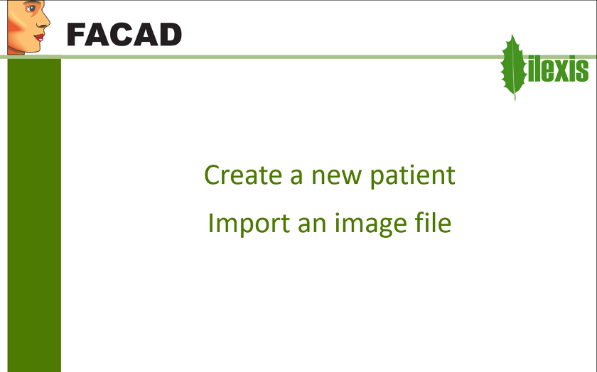 Create a new patient and import an image file